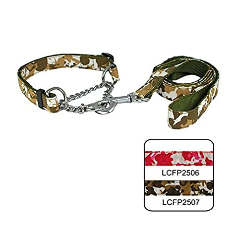 Strimm Nylon Camo/ Military/ Tactical/ Martingale Slip Choker Chain Working Training Collar and Leash Set to Prevent Pulling for Large/ Extra Large Breed - Nylon Chain