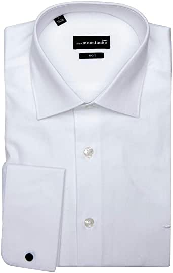 black moustache Full Sleeve Shirt For Men, Size Large, Color White