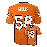 Von Miller #58 Denver Broncos NFL Youth Mid-Tier Jersey Orange