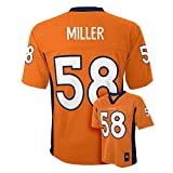 Von Miller #58 Denver Broncos NFL Youth Mid-Tier Jersey Orange (Youth Large 14/16)
