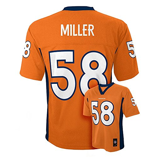 Outerstuff Von Miller #58 Denver Broncos NFL Youth Mid-Tier Jersey Orange (Youth Small 8)