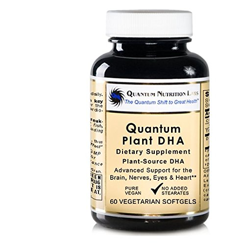 Quantum Plant DHA, 60 Vegetarian Softgels - Plant-Source DHA for Quantum-State Support for the Brain, Nerves, Eyes and Heart - Micro Algae Dha