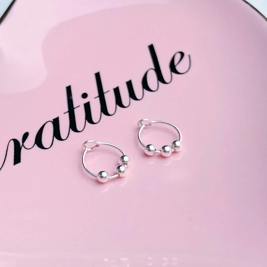 Small Treble Clef Earrings 20 gauge Sterling Silver