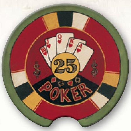 Coasting & Hosting Absorbent Car Coaster Poker Chip ()