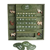 Product Description: Color:Army Green Size:20.5 * 2 * 20.5 CM Main material:Wood Features:  This wood calendar is made of wood with some animals,super cute and pretty good quality. Reveals a fine,quaint atmosphere,modern minimalist style.  It...