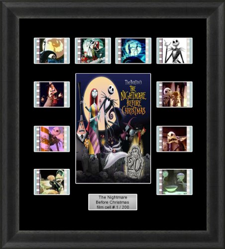 THE NIGHTMARE BEFORE CHRISTMAS MOUNTED FRAMED 35MM FILM CELL ...