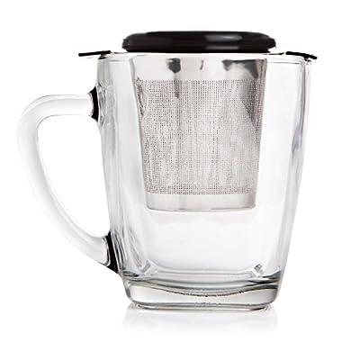 Extra Fine Mesh Tea Strainer, Loose Leaf Infuser Large Infuser Basket, Stainless Steel Filter