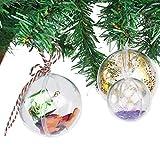 GWHOLE 15 Pcs Clear Plastic Fillable Ornament in 4cm, 5cm, 6cm for Christmas Wedding Party Decor