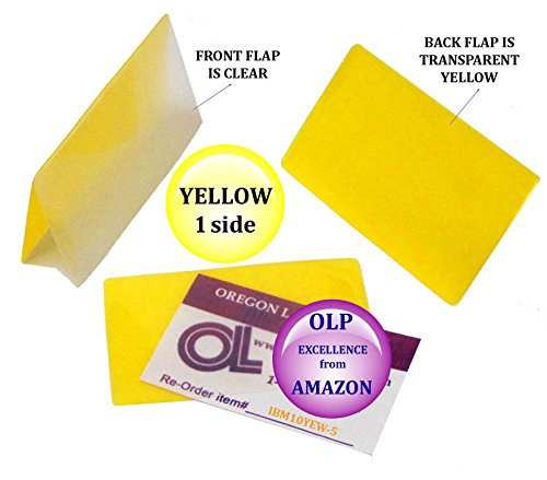 LAM-IT-ALL Hot Laminating Pouches IBM Card (pack of 500) 10 mil 2-5/16 x 3-1/4 Yellow/Clear by LAM-IT-ALL