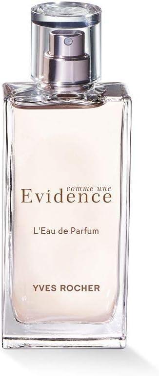 Yves Rocher COMME UNE EVIDENCE Eau de Parfum, aroma de rosa verde con notas de Chypre, regalo de San Valentín para mujeres, 1 pulverizador de 50 ml