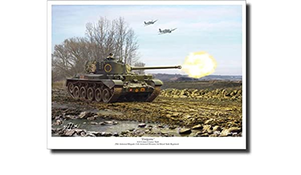 A34 Comet Tank Decor Military Art Endgame by Mark Karvon
