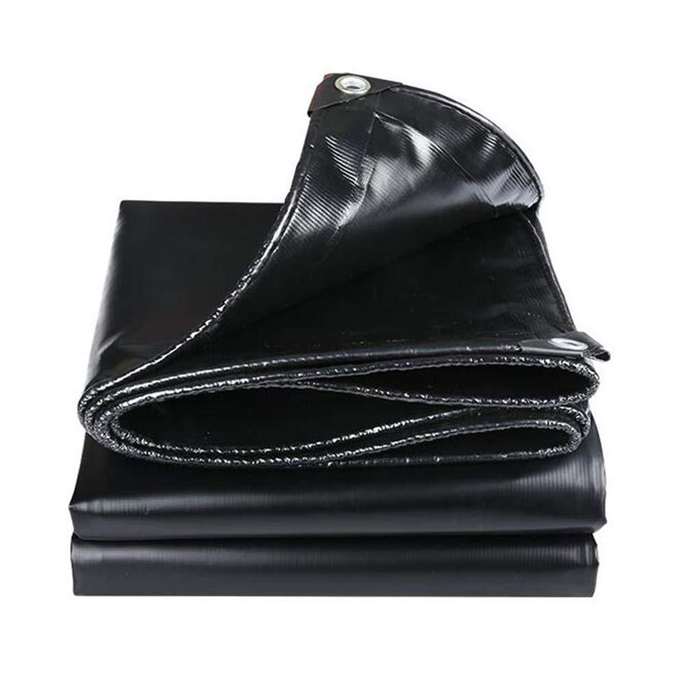 DALL ターポリン タープ 防水 日焼け止め 防塵 防風 シェード 抗酸化 (色 : 黒, サイズ さいず : 4*8m) 4*8m 黒 B07KQSDWZC