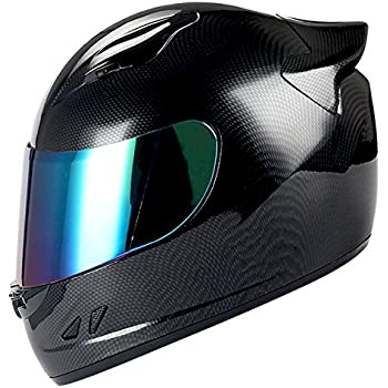 1STORM MOTORCYCLE BIKE FULL FACE HELMET MECHANIC CARBON FIBER BLACK