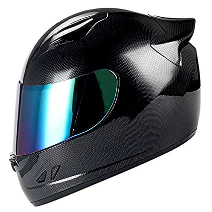 Carbon Fiber Motorcycle Helmets >> 1storm Motorcycle Bike Full Face Helmet Mechanic Carbon Fiber Black