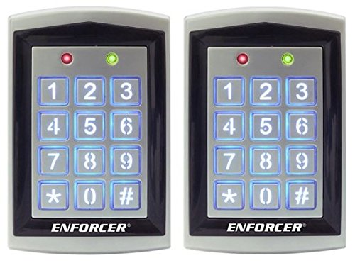 SECO-LARM SK-1323-SPQ Sealed Housing Weatherproof Stand-Alone Keypad with Proximity Card Reader (2 Pack); 12~24 VAC/VDC operation; 1,010 Users (Output #1: 1,000 users, Output #2:10 (Single Gang Backlit Keypad)