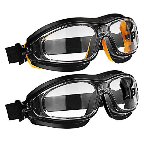 Slider Dust Wind Shock Resistant Chemical Acid Spray Paint Splash Wear Eye Protection Workplace Safety Goggles(black)