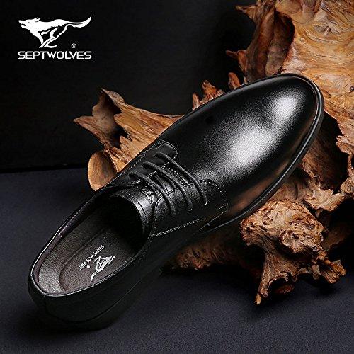 Aemember Hommes Chaussures D'affaires Convient Aux Hommes Chaussures Sangle Et Polyvalent Chaussures De Mariée Hommes Noir