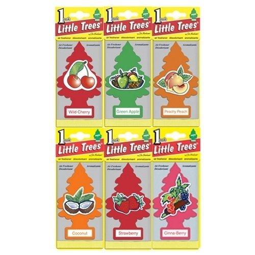 [해외]작은 나무 모듬 된 공기 청정기 과일 (24 개 팩)/Little Trees Assorted Air Freshener Fruit (Pack of 24)