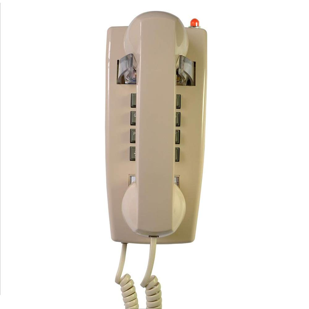 Tel/éfono Retro tel/éfono de Pared Fijo tel/éfono del Hotel Familia Hotel tel/éfono indicador de Sonido a Prueba de Agua y a Prueba de Humedad Color : Red