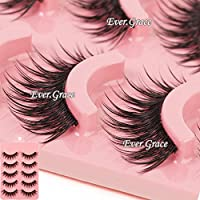 ICYCHEER Makeup 5 Pairs Natural Long Fake Eye Lashes Handmade Thick False Eyelashes Black