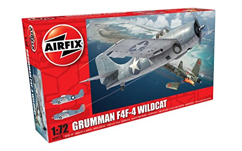 Airfix 1:72nd Scale WWII Grumman F4F-4 Wildcat Plastic Model (F4f 4 Wildcat)