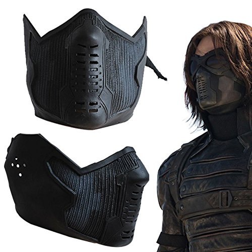 Winter Soldier James Buchanan Bucky Barnes Cosplay Latex Mask by -