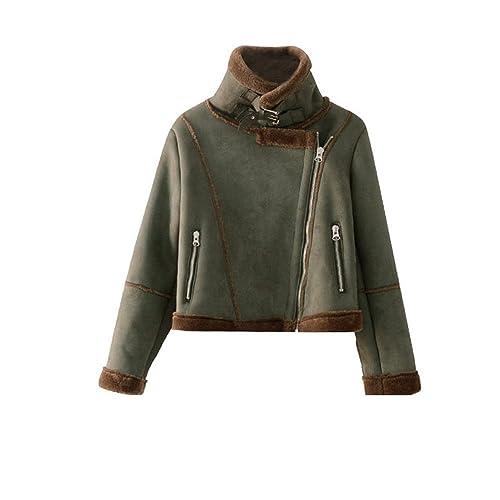 Abrigo de piel de invierno mujer corto, Sau chaqueta gruesa