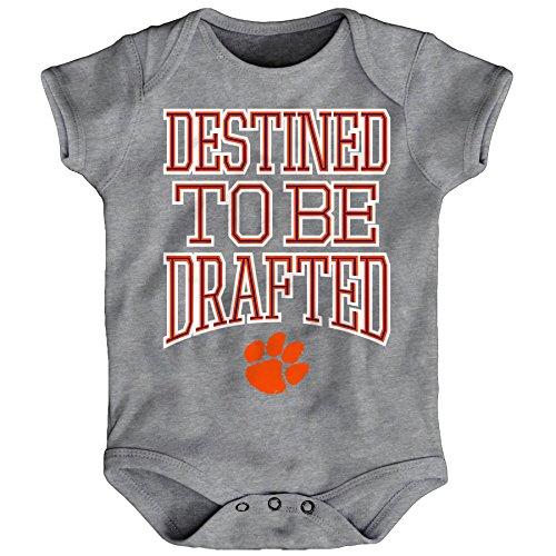 NCAA Clemson Tigers Infant Destined Onesie, Heather Grey, 24 Months (Toddler Tigers Apparel)