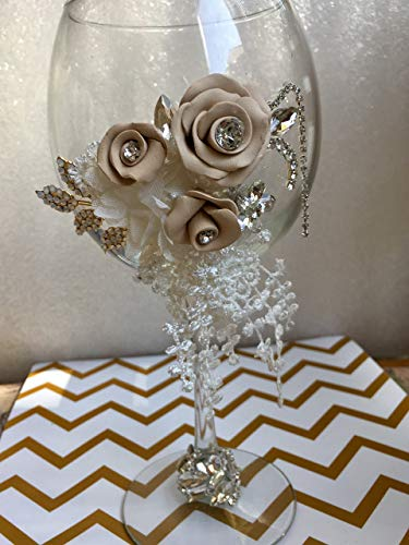 - Rustic Wedding Toasting Glasses with lace and Rhinestones, Rustic Champagne Flutes, Bride and Groom Wine Glasses