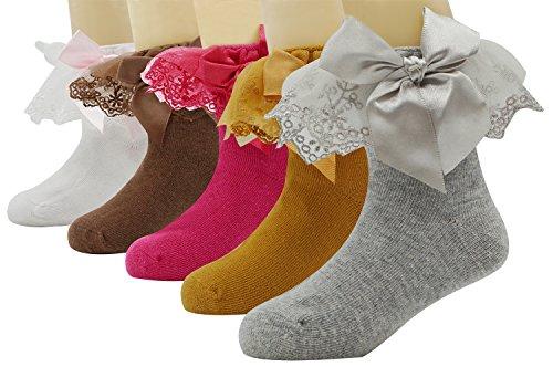 Baby Girls Ankle Socks Lace Top Dress Socks Princess Cotton Socks