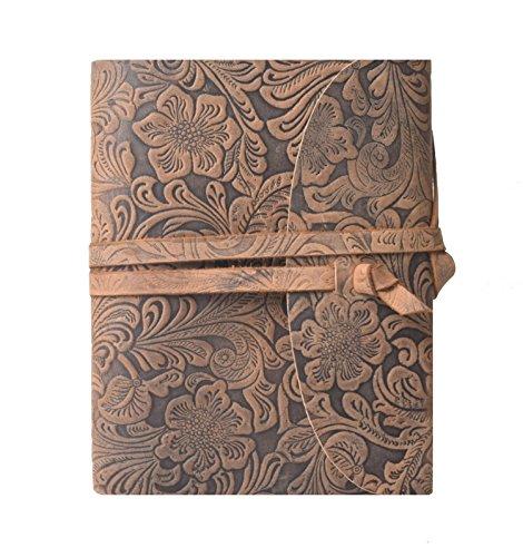 Leaderachi Genuine Hunter Leather & Handmade Paper Diary, Hartford (Printed) ()