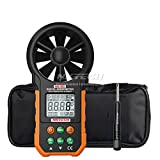 NKTECH NK-W5 Digital Anemometer Wind Speed Meter Air Flow Volume Ambient and Temperature Humidity USB Data Upload Backlight 9999 Count LCD Dual Line Digital Display + TL-1 Screwdriver