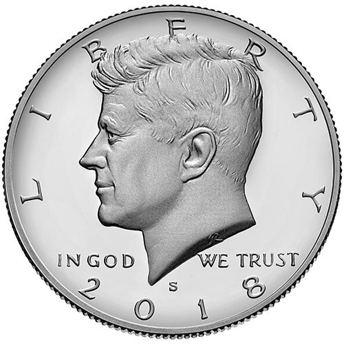 2018 S Clad Proof Kennedy Half Dollar Choice Uncirculated US Mint