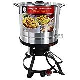 40 quart pressure cooker - StockPot Set w/ Burner & Stand Vaporera Tamalera Steamer Pot Olla Tamale (40QT)