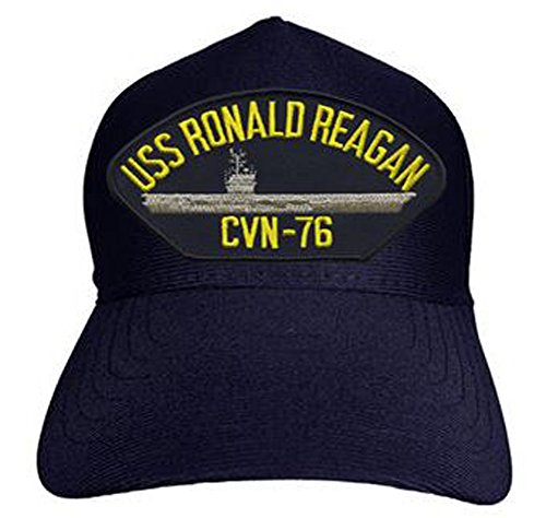 Ronald Reagan Baseball - USS Ronald Reagan CVN-76 Baseball Cap. Navy Blue. Made in USA
