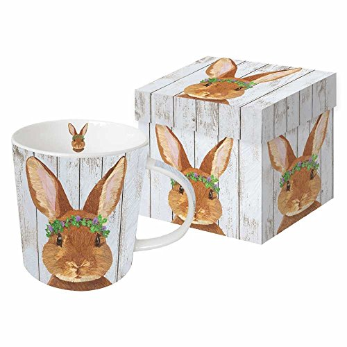 Paperproducts Design 603100 Vivien Design by Two Can Art Gift Boxed Mug, Brown