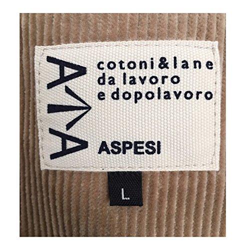 Aspesi Giacca Uomo Velluto Beige Mod A Cj35 B826 Murakami Winter 100% Cotone
