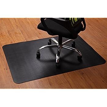 office chair mat for hardwood and tile floor black anti slip under the desk mat. Black Bedroom Furniture Sets. Home Design Ideas