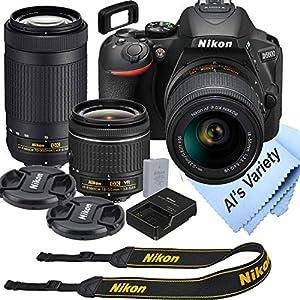 Nikon D5600 DSLR Camera Kit with 18-55mm VR + 70-300mm Zoom Lenses | Built-in Wi-Fi | 24.2 MP CMOS Sensor | EXPEED 4…