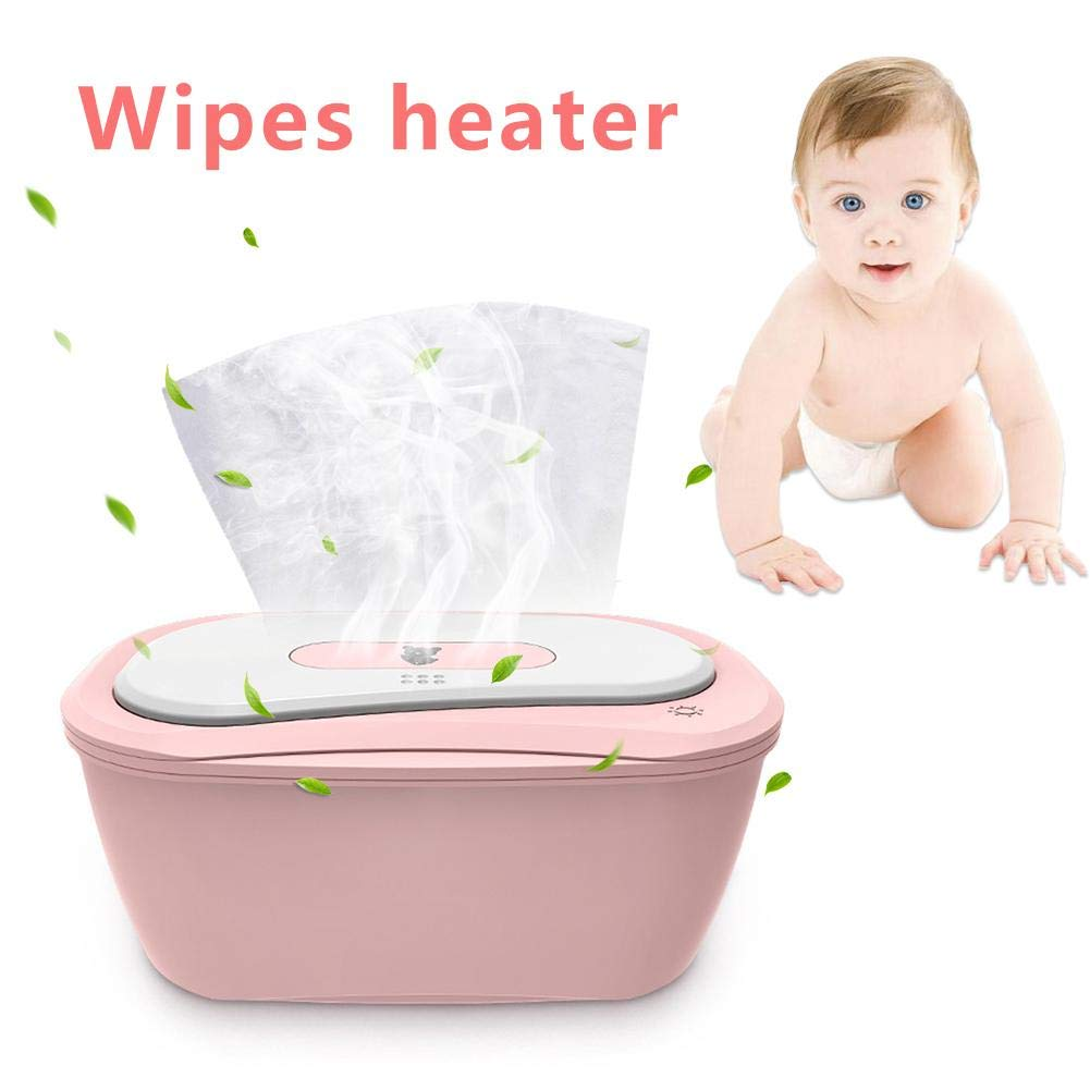 Wipe Warmers -Baby Wet Wipes Warmer, Baby Wipes Heater Portable Dispenser, Holder and Case - with Easy Press On/Off Switch, for Dual Heat for Baby's Comfort by Beeant