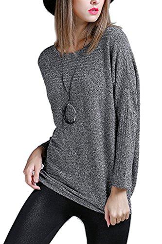 Sudadera de moda de mujer de manga larga elegante Grey