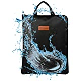 """Fire Safe, Fireproof Safe Document Bag (14""""x 11"""") Waterproof Non-itchy, Zipper Closure, Silicone Coated Home Security for Maximum Storage"""