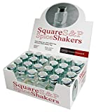 Grant Howard 2.5 Ounce Square Salt and Pepper Shakers, Set of 24