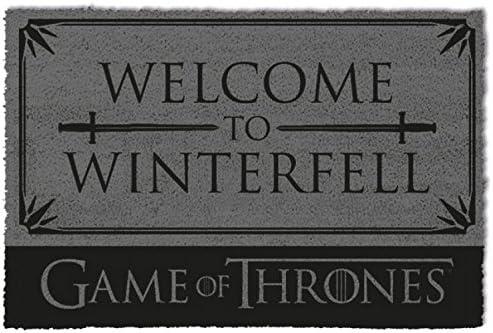 1art1 Juego De Tronos - Welcome To Winterfell Felpudo Alfombra (60 x 40cm): Amazon.es: Videojuegos