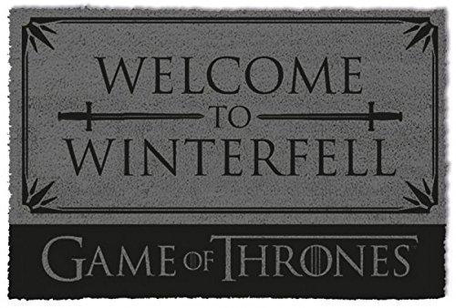 1art1 Game of Thrones Door Mat Floor Mat - Welcome to Winterfell (24 x 16 inches) from 1art1