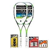 Dunlop Sport Aerogel 4D Elite Squash Racquet Combo