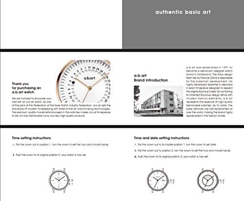 a.b.art FD36-101-6S Women's Fashion Wrist Watch Date Display Watch Silver tone (Mesh bracelet steel-Steel) by a.b.art (Image #6)