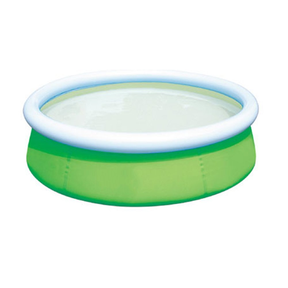 DMGF Inflatable Easy Set Pool Family Play Pool Summer Water Fun Lounge Padding Pool Above Ground Swim Center With Electric Air Pump 60X15in,Green