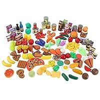 Liberty Imports Juego de juguetes surtido de alimentos para supermercado Super Market de 150 piezas para niños