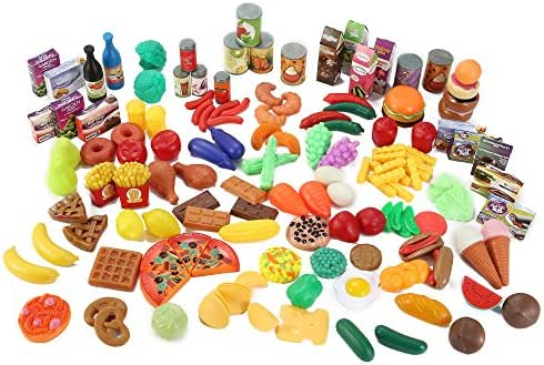 Liberty Imports 150 Piece Super Market Grocery Play Food Assortment Toy Set for Kids